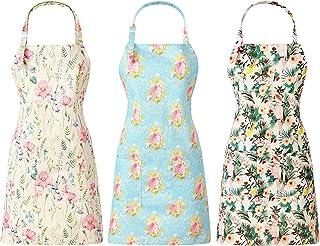پیش بند آشپزخانه پیش بند آشپزخانه قابل تنظیم گل سه تکه زنانه پیش بند آشپزخانه