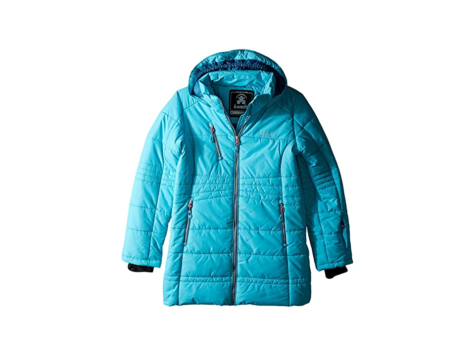 Kamik Kids Lyla Parka Jacket (Little Kids/Big Kids) (Tide) Girl