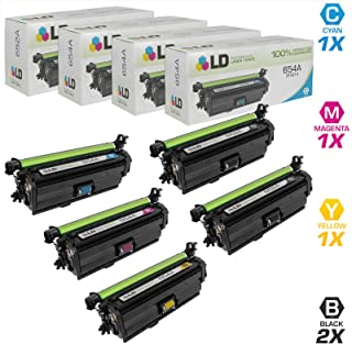 LD Remanufactured Toner Cartridge Replacement for HP 652A & 654A (2 Black, 1 Cyan, 1 Magenta, 1 Yellow, 5-Pack)