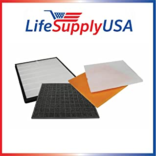 LifeSupplyUSA Complete Replacement Filter Kit Set Compatible with RabbitAir Air MinusA2 SPA-700A & SPA-780A Air Purifiers