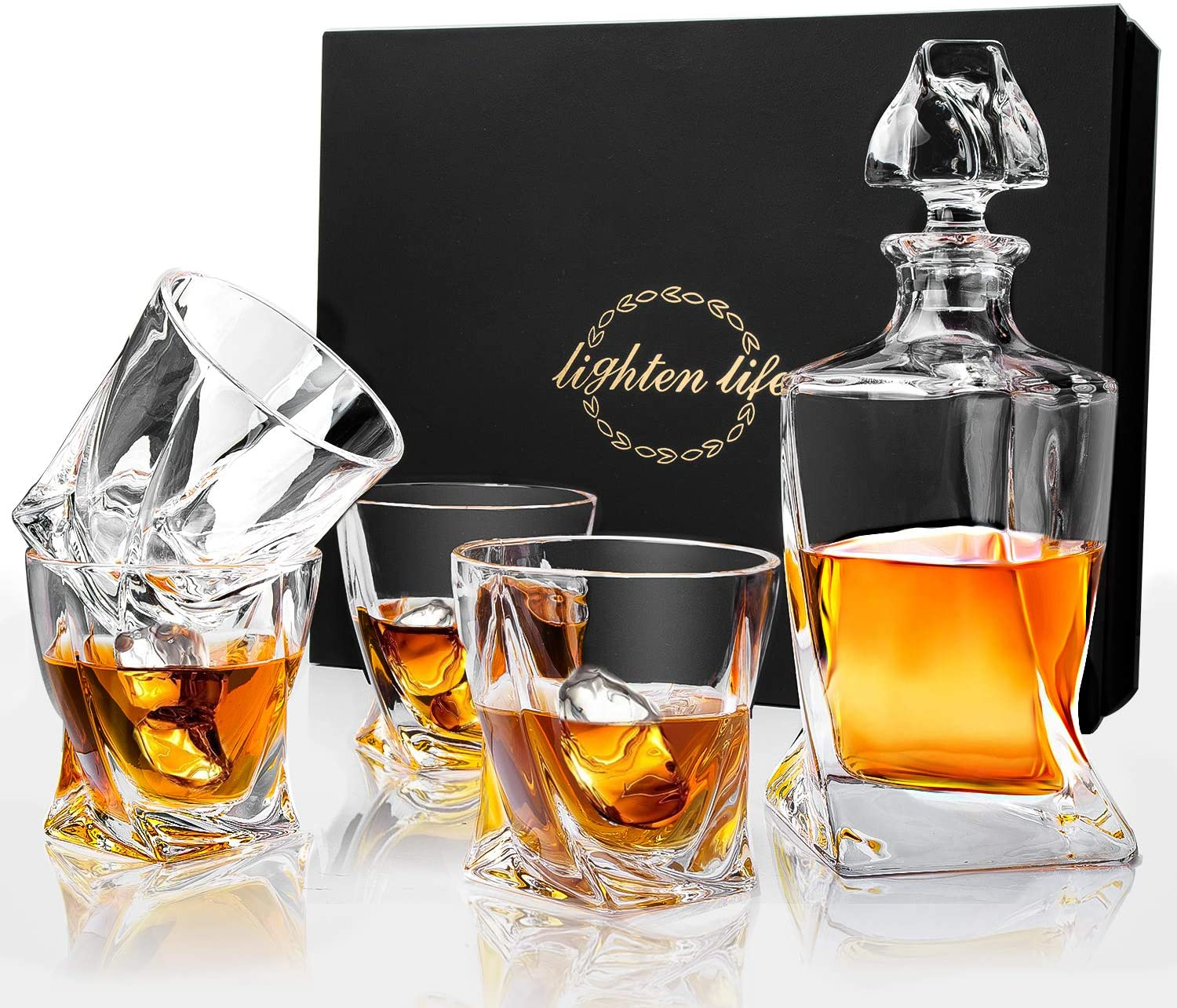 Lighten Life Whiskey Decanter Sets Popular shop is the lowest price challenge Set Quantity limited with Gla Crystal
