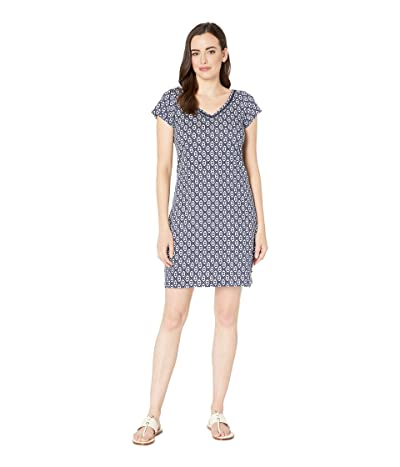 Hatley Marina Dress (Distressed Triangles Blue) Women