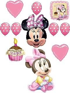 Minnie Mouse Party Supplies 1st Birthday Baby Minnie Balloon Bouquet Decoration