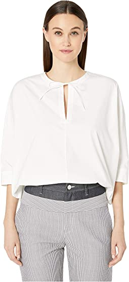 Stretch Cotton Poplin Blouse