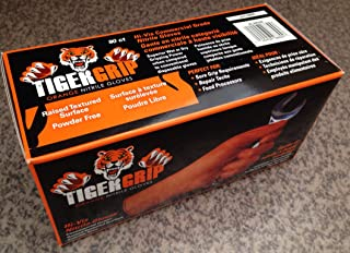 2 Boxes of Eppco 8844 Tiger Grip Orange Nitrile Gloves - Large Size