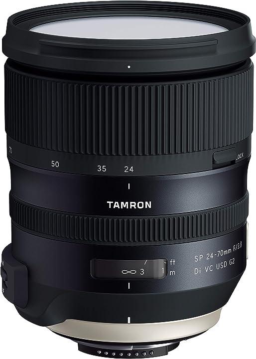 Obiettivo per nikon, 24-70mm f/2,8 di vc usd g2, nero tamron A032N