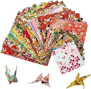 Liuer Origami Papel,Papel para papiroflexia Set para ni/ños y adultos para Origami para proyectos de arte y manualidades 15 * 15 Cm,Origami de Doble Papel