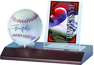 baseball and photo display case
