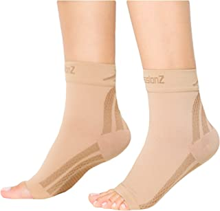 CompressionZ Plantar Fasciitis Socks - Compression Foot Sleeves - Ankle Brace Arch Support - Pain Relief for Heel Spurs, E...