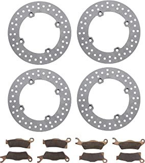 Race Driven Front & Rear Brake Rotors & Severe Duty Brake Pads for Can-Am Outlander Renegade