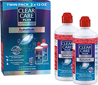 Clear Care Plus Cleaning and Disinfecting Solution with Lens Case, Twin Pack