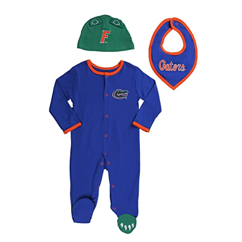 bbe525e48 FAST ASLEEP Florida Gators Baby Boy (3pc) Footie, Bib and Hat Set
