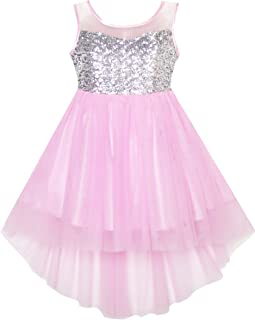 6d0178763799 Sunny Fashion Girls Dress Sequin Mesh Party Wedding Princess Tulle