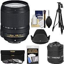 Nikon 18-140mm f/3.5-5.6G VR DX ED AF-S Nikkor-Zoom Lens with 3 UV/CPL/ND8 Filters + Pistol Grip Tripod + Pouch Kit for Digital SLR Cameras