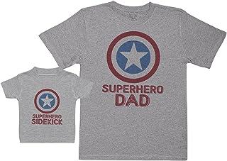 Superhero Sidekick - Regalo para Padres y bebés en un Camiseta para bebés y una Camiseta de Hombre a Juego