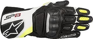 Alpinestars SP-8 v2 Leather Gloves (Medium) (Black/White/Yellow)