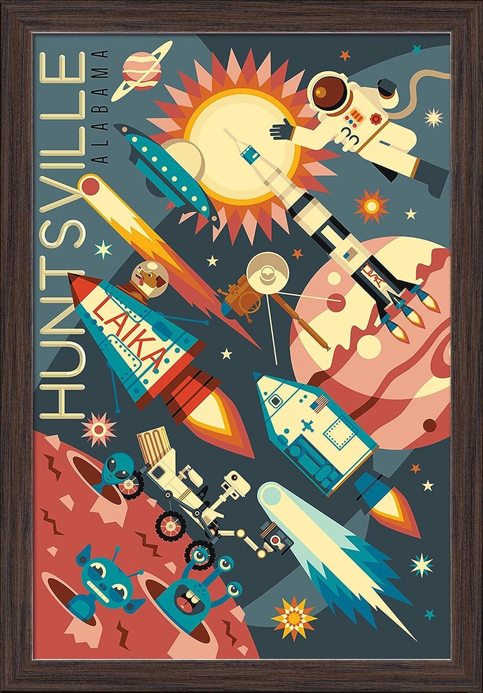 Huntsville Alabama Space Geometric 16x24 Ranking TOP11 Print Giclee Art Max 73% OFF Ga