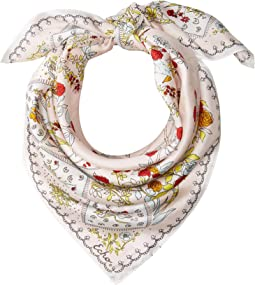 Coral Sea Silk Square Scarf