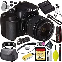 "$336 » Canon EOS 4000D DSLR Camera EF-S 18-55 mm Lens International Model - USB Card Reader&Wallet - Strap (SLR/Video) - Case - 72"" Tripod - Filter KIT - Lens Cap Keeper - 64GB"