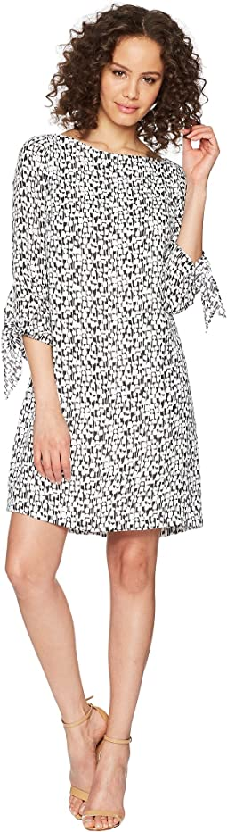 Georgette Printed Shift Dress
