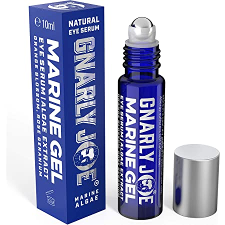 Gnarly Joe Eye Serum for Men. Hyaluronic Gel with Cooling Rollerball Applicator. Rejuvenates Tired Eyes, Puffiness and Dark Circles, 10 ml