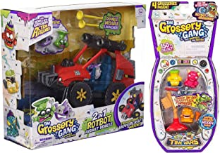 Rotten Stinky Slimy Toilet Vehicle Bizarre Flush Bathroom 2 in 1 Assault Big Car Missile Grossery Drain Attack Gang Pack 2 Creature Bundle 4-Pack Plunger Gang Time Wars Funny Flushies Play Set