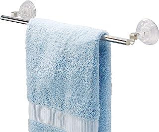 "iDesign Reo Metal Power Lock Suction Towel Bar Rack for Bathroom, Kitchen Use, 1.75"" x 17.5"" x 3.25"""