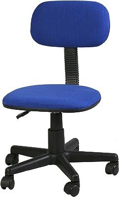 Archimede Silla de Oficina, Estructura de Metal, Tapizado Textil, Azul, 40 x