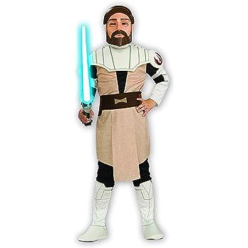 Child Licensed Star Wars Obi Wan Kenobi Jedi Fancy Dress Costume Kids Ages 3-10