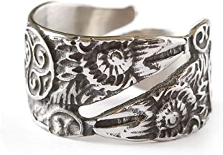 HAQUIL Viking Jewelry Silver Odin Raven Bird Ring for Men for Women