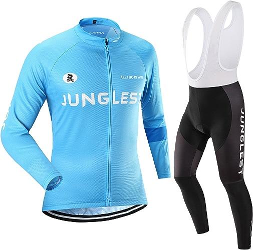 Maillot de Cyclisme Homme Manches Longues Jersey(S5XL,Option Cuissard,3D Coussin) N10