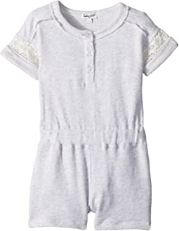 French Terry Romper w/ Lace (Toddler)