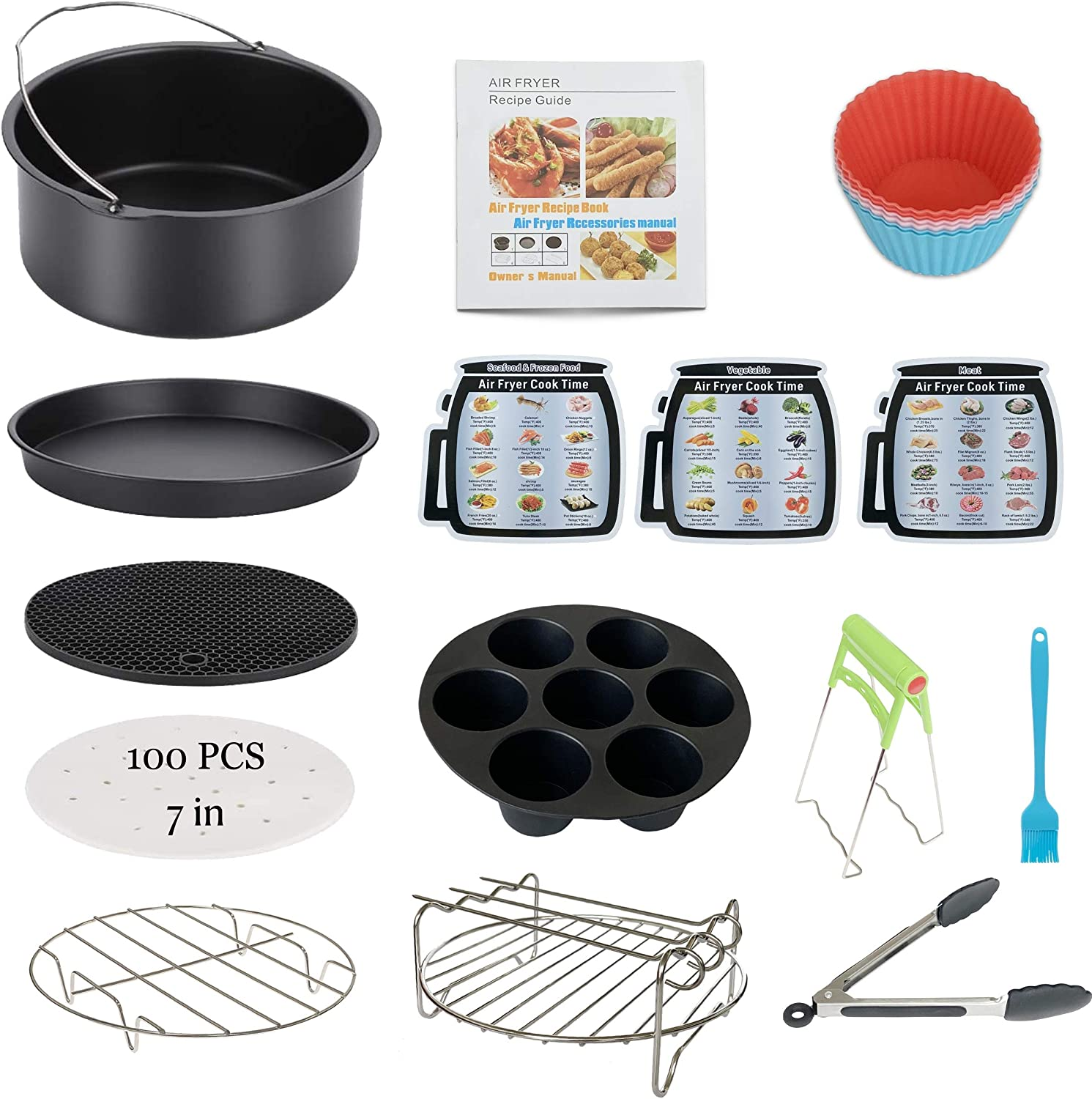 Air Cheap bargain Fryer Accessories 13PCS for Phillips Nuwave Ranking TOP12 Gowise N Gourmia