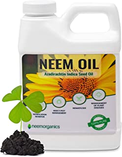 Neem Organics Pure Neem Oil | Neem Oil Spray for Plants | Spray for Indoor & Outdoor Garden | Organic Non-Toxic | Protect Plants Throughout All Seasons (16oz)