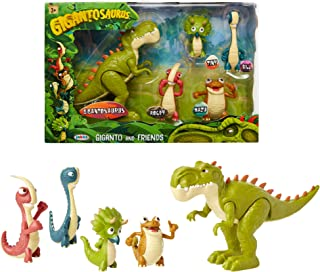 Gigantosaurus Figures Giganto & Friends Toy Action Figures, Includes: Giganto, Mazu, Bill, Tiny & Rocky – Articulated Characters Range from 2.5-5.5