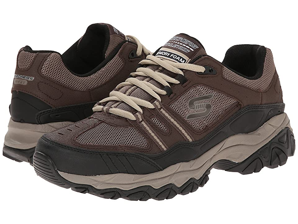 SKECHERS After Burn Memory Fit Strike Off (Brown/Black) Men