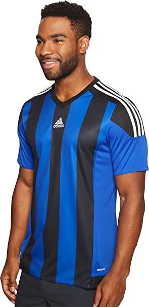 Amazon.com : adidas Mens Soccer Men's Striped Jersey : Sports ...