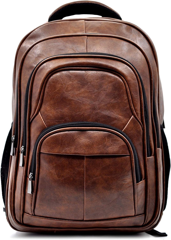Gyoiamea W70, Unisex Erwachsene Daypack Braun Dunkelbraun Grande larghezza 35cm Altezza 47cm PROFONDITà 23CM