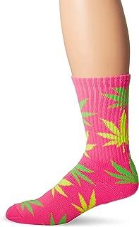 Men's Neon Plant Life Crew Socks
