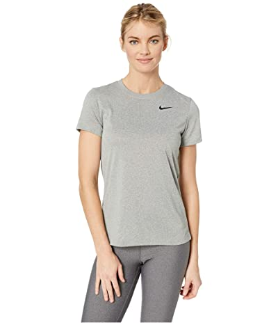 Nike Dry Legend Tee Crew (Dark Grey Heather/Black) Women