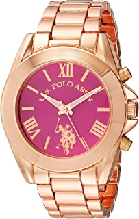 U.S. Polo Assn. Women's Quartz Watch, Analog Display and Gold Plated Strap USC40049