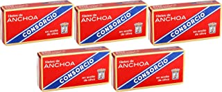 comprar comparacion Anchoas en Aceite de Oliva Consorcio 45gr. Pack 5 Latas
