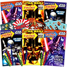 Star Wars Ultimate Party Favors Pack -- 6 Sets (Coloring Books, Stickers and Crayons--Party Supplies)