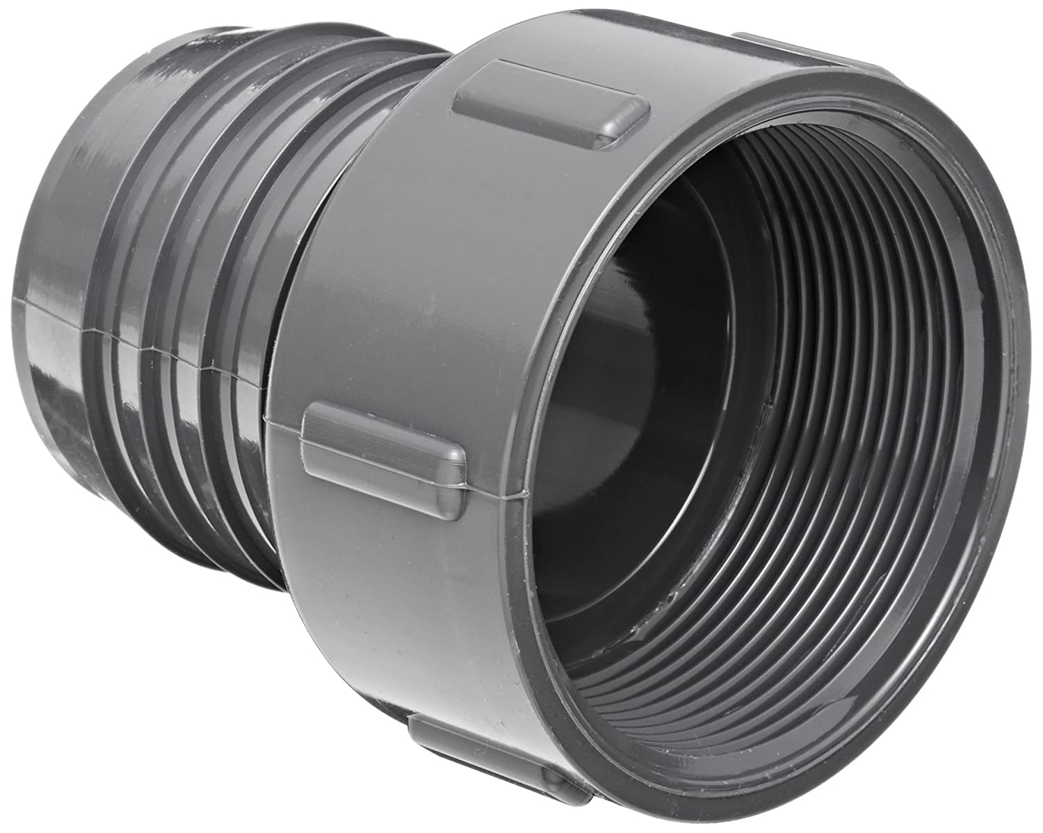 Adapter Spears 1435 Series PVC Tube Fitting Gray 1//2 Barbed x NPT Female Schedule 40