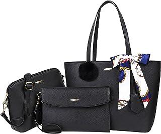COCASES Handtasche Damen Schultertasche Shopper Große Umhängetasche Tragtasche Set 3-Teilige Handtaschen für Genschenk Bür...