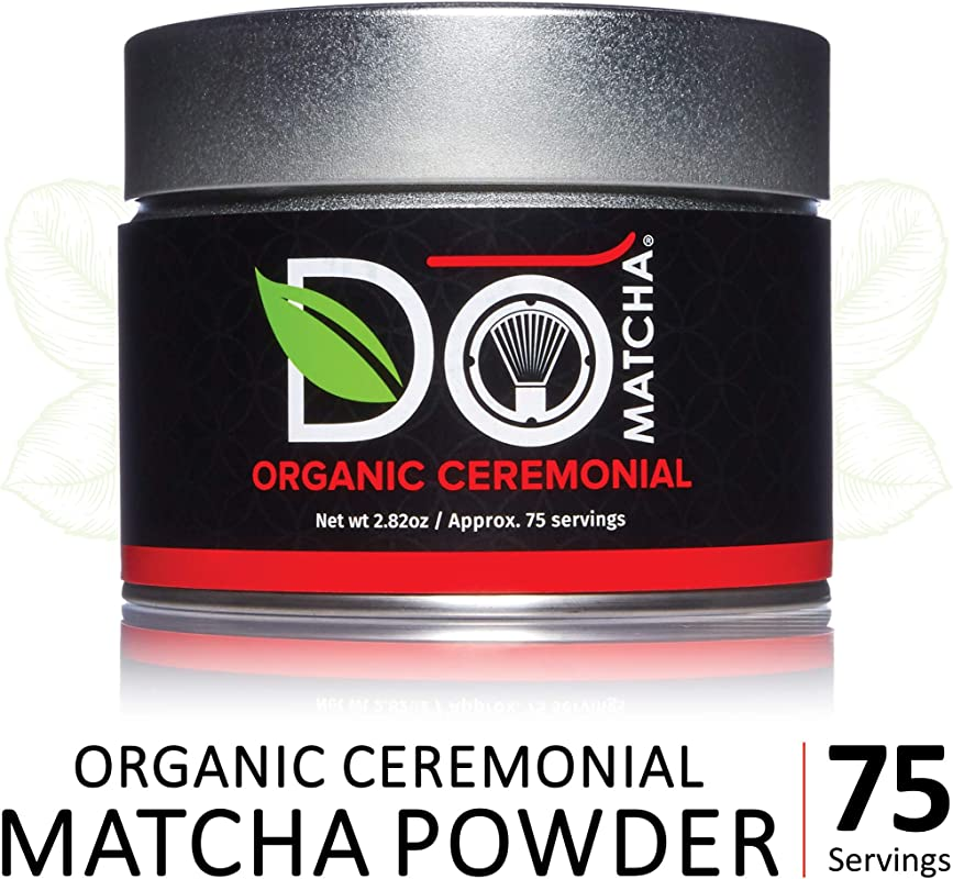 DoMatcha Organic Ceremonial Green Tea Matcha Powder Natural Source Of Antioxidants Caffeine And L Theanine Promotes Focus And Relaxation 75 Servings 2 82 Oz