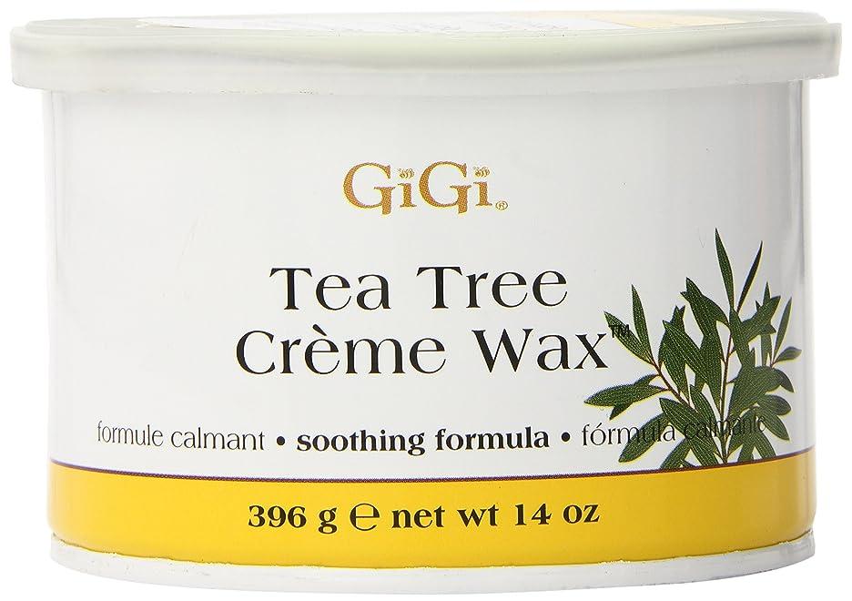 フェード休み今GiGi Tea Tree Cream Wax A Soothing Hair Removal Formula 396g