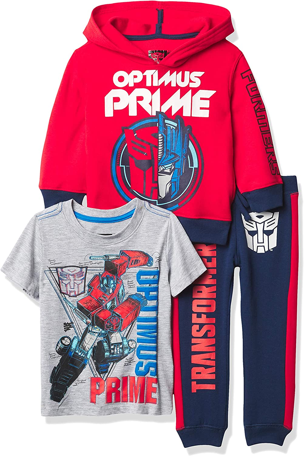 Transformers Graphic Hoodie, T-Shirt, & Jogger Sweatpant, 3-Piece Athleisure Outfit...