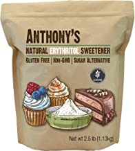 Anthony's Erythritol Granules, 2.5lbs, Non GMO, Natural Sweetener, Keto & Paleo Friendly
