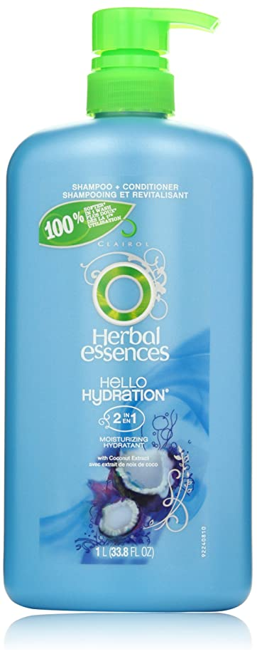 適用する暴行城Herbal Essences Hello Hydration 2-In-1 Moisturizing Hair Shampoo & Conditioner With Pump 33.8 Fl Oz by Herbal Essences [並行輸入品]